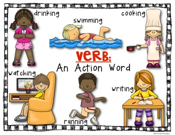 {Noun and Verb} Posters for the Primary Classroom: Supports ELA Common Core
