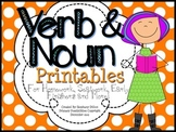 Noun and Verb Printables {Homework, Seat Work, and More!}