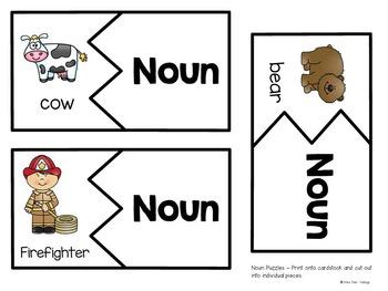 Noun and Verb Puzzles