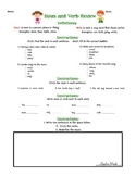 Noun and Verb Review Worksheet