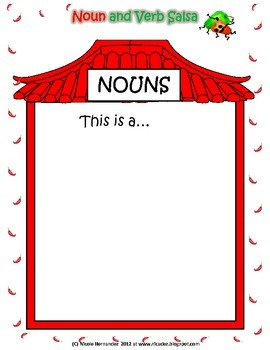 Nouns and Verbs Sorting Activity