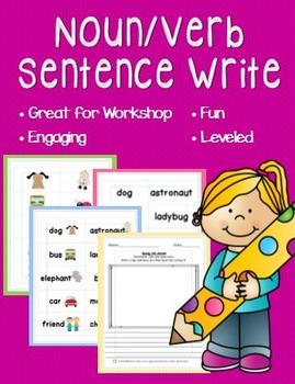 Noun and Verb Sentence Write