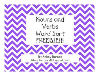 Noun and Verb Sort - FREEBIE!