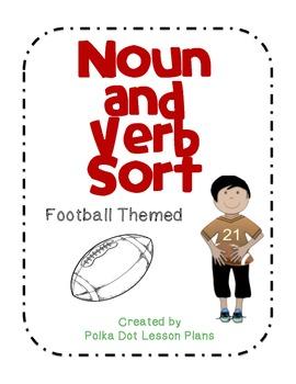 Noun and Verb Sort Football Themed