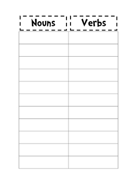 Noun and Verb Sort III IV