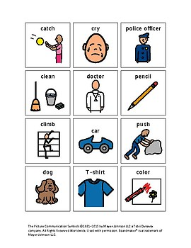 Noun and Verb Sort with Boardmaker Pictures for Autism or ADHD