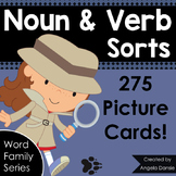 Noun and Verb Picture Card Sorts