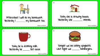 Noun and Verb Task Card Bundle
