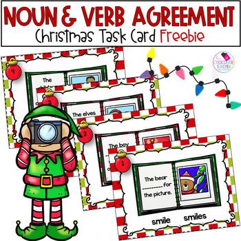 Noun and Verb Task Cards ***FREE***