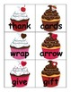 Noun and Verb Valentine's Day Cupcake Word Sort
