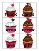 Noun and Verb Valentine's Day Cupcake Word Sort