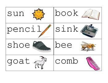 Noun and Verb Winter Word Sort