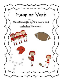 Noun and Verb picture sort
