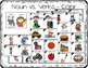 Noun and Verb Task Cards with Anchor Charts & Games for Kindergarten