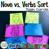 Noun and Verb Task Cards with Anchor Charts & Games for Ki