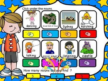 Noun interactive powerpoint  GAME