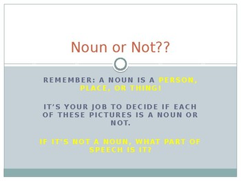 Noun or Not?