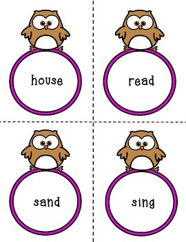 Noun or Not a Noun Cards (Owl Theme)