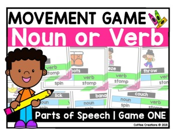 Noun or Verb Interactive Movement Game