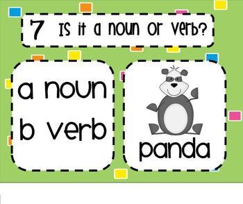 Noun or Verb SMARTBoard Senteo Lesson