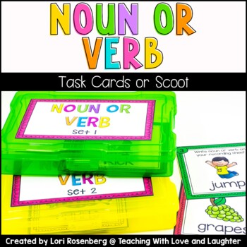 Noun or Verb Task Cards or Scoot