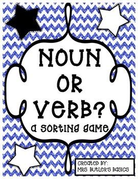 Noun or Verb Sorting Game