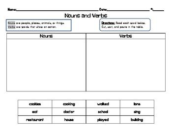 Noun or Verb? Sorts