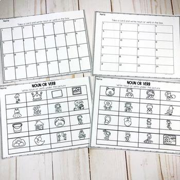 Noun or Verb Task Cards