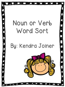 Noun or Verb Word Sort