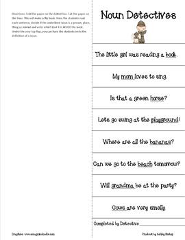 Noun packet-- Farmer Noun includes Poster, Game and Worksheets