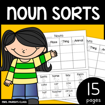 Noun sort 15 pages!! Print and Go!