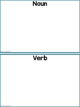 Noun versus Verb Sorting FREEBIE