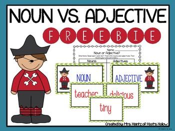Noun vs. Adjective Sorting (Freebie)