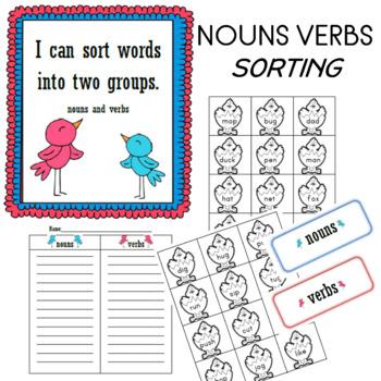 Noun vs. Verb Word Sort