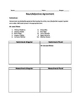 Noun/Adjective Agreement