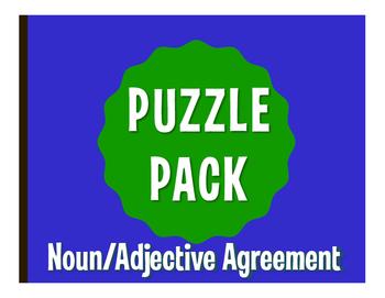 Spanish Noun Adjective Agreement Puzzle Pack