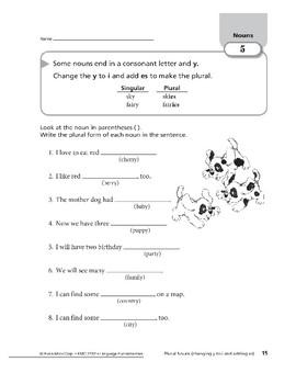 Nouns 02: Identifying Singular and Plural Nouns