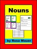 Nouns Activities Task Cards
