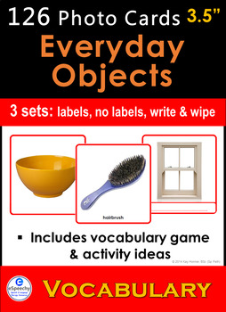Photo Vocabulary Cards 126 Everyday Objects Speech Therapy Autism Sp Ed Esl