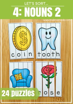 Nouns 2 Word Puzzles and Spelling Practice