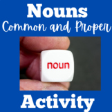 Common and Proper Nouns Worksheet | Common and Proper Noun Task Cards