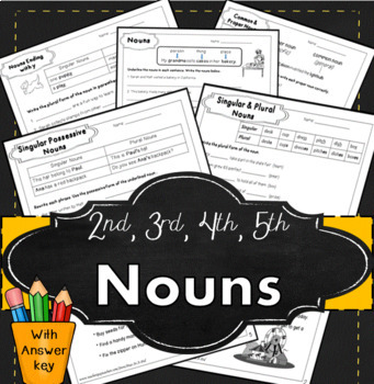 Nouns for second,  third, fourth, & fifth grade