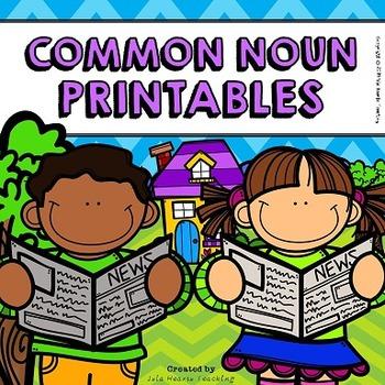 Common Nouns Worksheets