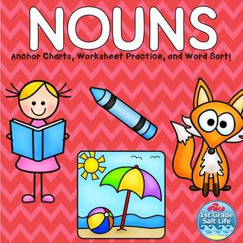 Nouns Activites / Nouns Practice /  Nouns Worksheets