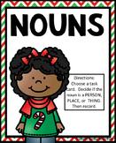 Nouns | Christmas Literacy Center | Parts of Speech