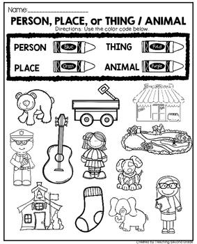 Noun Activities by Teaching Second Grade | Teachers Pay ...