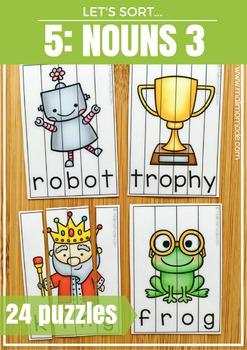 Nouns 3 Word Puzzles and Spelling Practice