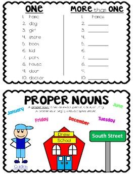 Nouns:  A Mini Book