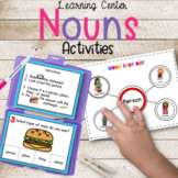 Nouns Activities | Task Cards Picture Sort and More