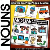 Nouns Activities   Picture Sorts, Centers, No Prep Pages,